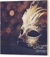 Venetian Mask Wood Print by Jelena Jovanovic