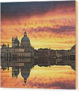 Venetian Reflections Wood Print