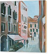 Venetian Street Wood Print
