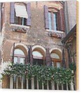 Venetian Veranda Wood Print