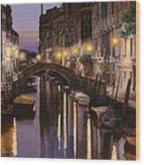 Venezia Al Crepuscolo Wood Print