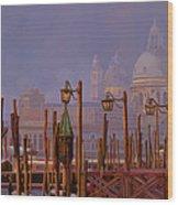Venezia E La Nebbia Wood Print