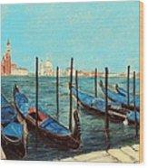 Venice Wood Print by Anastasiya Malakhova