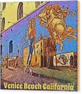Venice Beach Posterized Wood Print