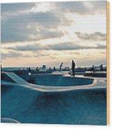 Venice Beach Skate Park Wood Print