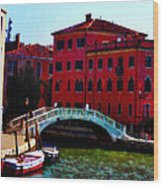 Venice Bow Bridge Wood Print