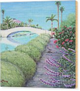 Venice California Canals Wood Print