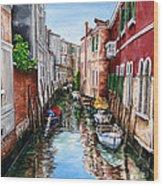 Venice Canal 4 Wood Print