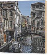 Venice Canal 5 Wood Print