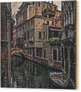 Venice Canal 8 Wood Print