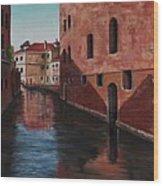Venice Canal Wood Print by Darice Machel McGuire