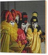 Venice Carnival Wood Print