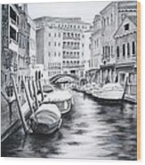 Venice City Of Love Wood Print