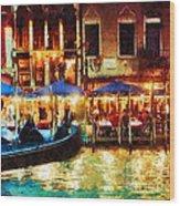 Venice Glow Wood Print