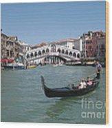 Venice Gondolier Wood Print