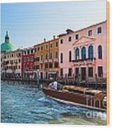 Venice Grand Canal View Italy Sunny Day Wood Print