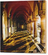 Venice Hallway In The Morning Wood Print