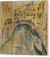 Venice I. Wood Print by Paula Steffensen