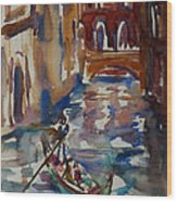 Venice Impression V Wood Print