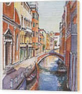 Venice In Spring Wood Print