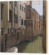 Venice Laundry Day Wood Print