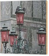 Venice Lights By Day Wood Print