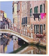 Venice Living Wood Print