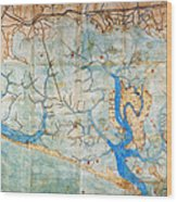 Venice: Map, 1546 Wood Print