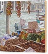 Venice Market Wood Print