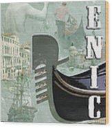 Venice Montage 2 Wood Print