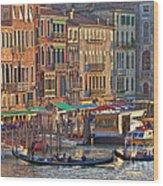 Venice Palazzi At Sundown Wood Print