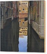 Venice Reflections - Pastel  Wood Print