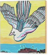 Venice Seagull Wood Print by Don Koester