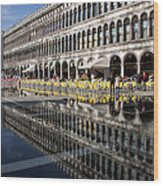 Venice Italy - St Mark's Square Symmetry Wood Print