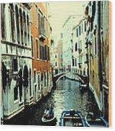 Venice Street Scene Wood Print