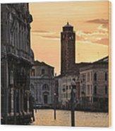 Venice Sunrise  Wood Print