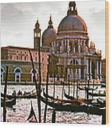 Venice The Grand Canal Wood Print