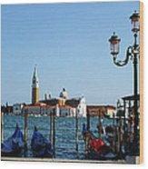 Venice View On Basilica Di San Giorgio Maggiore Wood Print