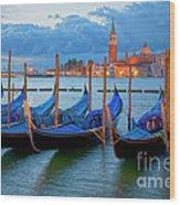 Venice View To San Giorgio Maggiore Wood Print