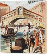 Venice Vintage Poster Wood Print