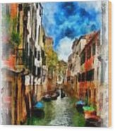 Venice Watercolor Wood Print