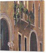 Venice Windows Wood Print