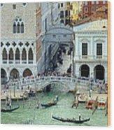 Venice's Bridge Of Sighs Wood Print