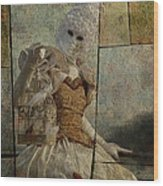 Venitian Carnival-bird In A Cage Wood Print