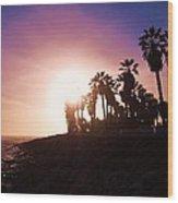 Ventura Beach Sunset Wood Print