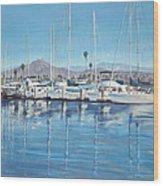 Ventura Harbor Morning Light Wood Print