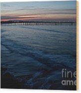 Ventura Pier Sunrise Wood Print by John Daly