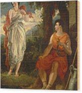 Venus And Anchises Wood Print