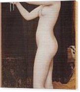 Venus Binding Her Hair Wood Print