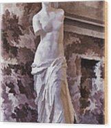 Venus De Milo - Louvre Wood Print